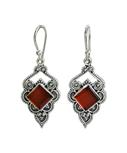 Valentine's Day Present Earrings for Women,Leewos Women Vintage Jewelry Earrings Gemstone Dangle Hook Stud Earring Gift(F)