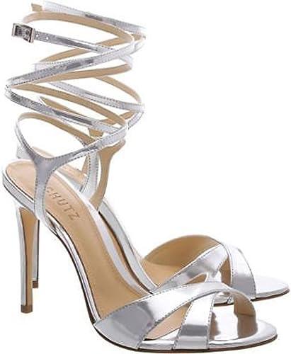 Schutz Maira Black Suede Gold Leather Tassel /& Fringe Hi Heel Dress Sandals