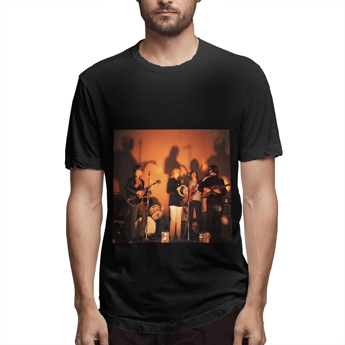 Lihehen Velvet Underground Simple Casual Round Neck T Shirt