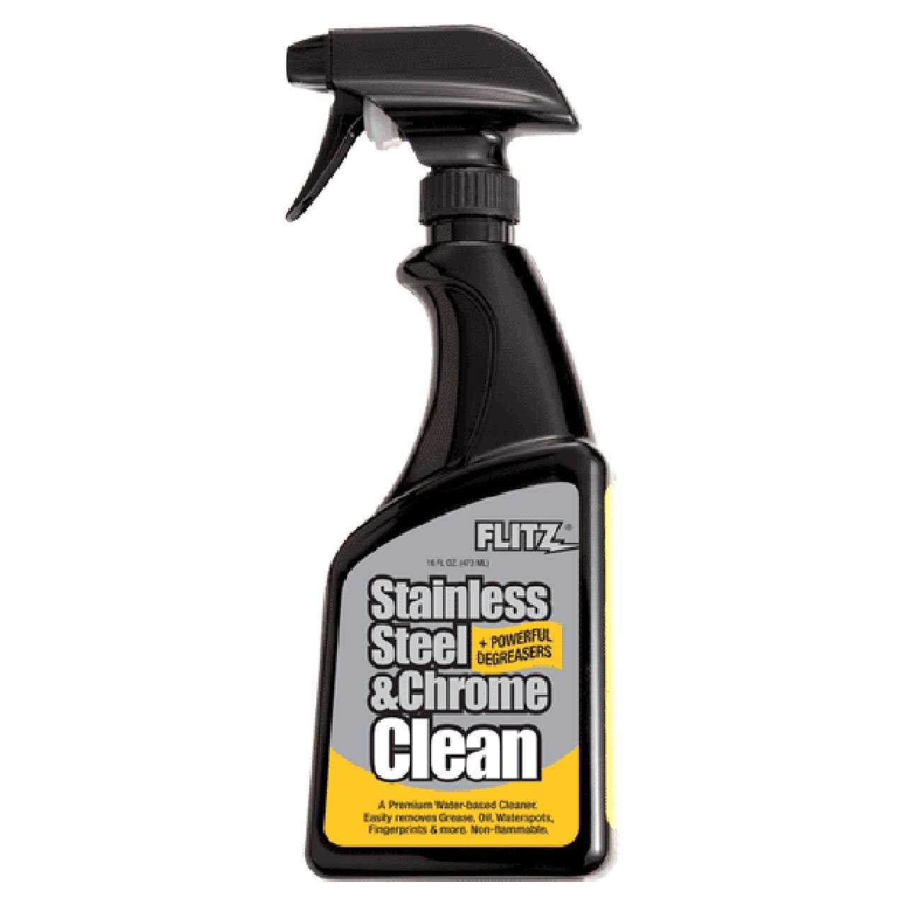 Flitz SP 01506 Stainless Steel and Chrome Cleaner with Degreaser, 16-Ounce, Small