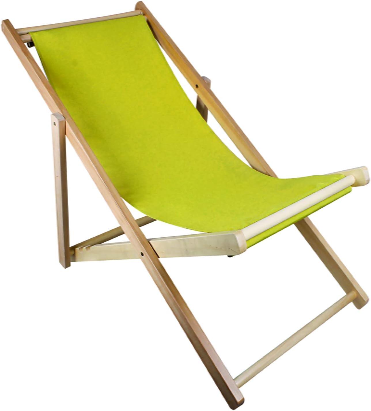 Chaise longue pliante Chaise de plage Balcon Chaise longue pliante Chaise longue pliante en bois Chaise longue Chaise de jardin L 102//110 x B 59 x H 81//62,5cm Orange
