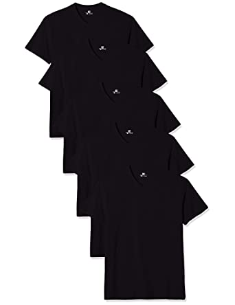 de93552335c3 Lower East Men's V-Neck T-Shirt, Pack of 5: Amazon.co.uk: Clothing