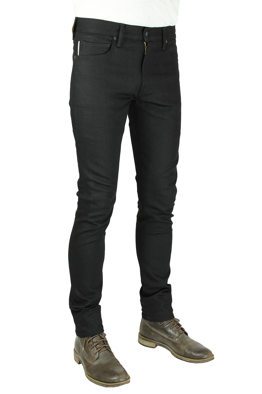 HIROSHI KATO Jeans Men's The Needle Skinny Raw Black 10.5 Oz 4-Way Stretch Selvedge Denim Skinny Fits Made In USA Raw Black 36 by HIROSHI KATO (Image #3)