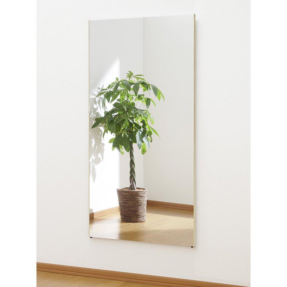 割れない鏡 ミラー 細枠フレーム 全身 姿見 軽量 日本製 幅80 高さ150 木目調 メープル B073W7GXYV 幅80×高さ150cm|メープル メープル 幅80×高さ150cm