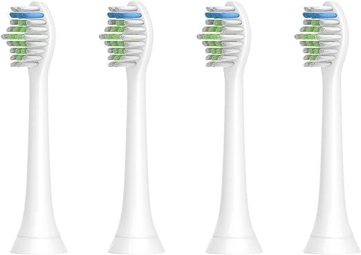 YanBan Cabezales de cepillo de repuesto para Philips Sonicare, cabezal de cepillo de dientes para cepillo de dientes Diamondclean Healthywhite + cabezales adaptables HX6530 HX6511: Amazon.es: Bebé