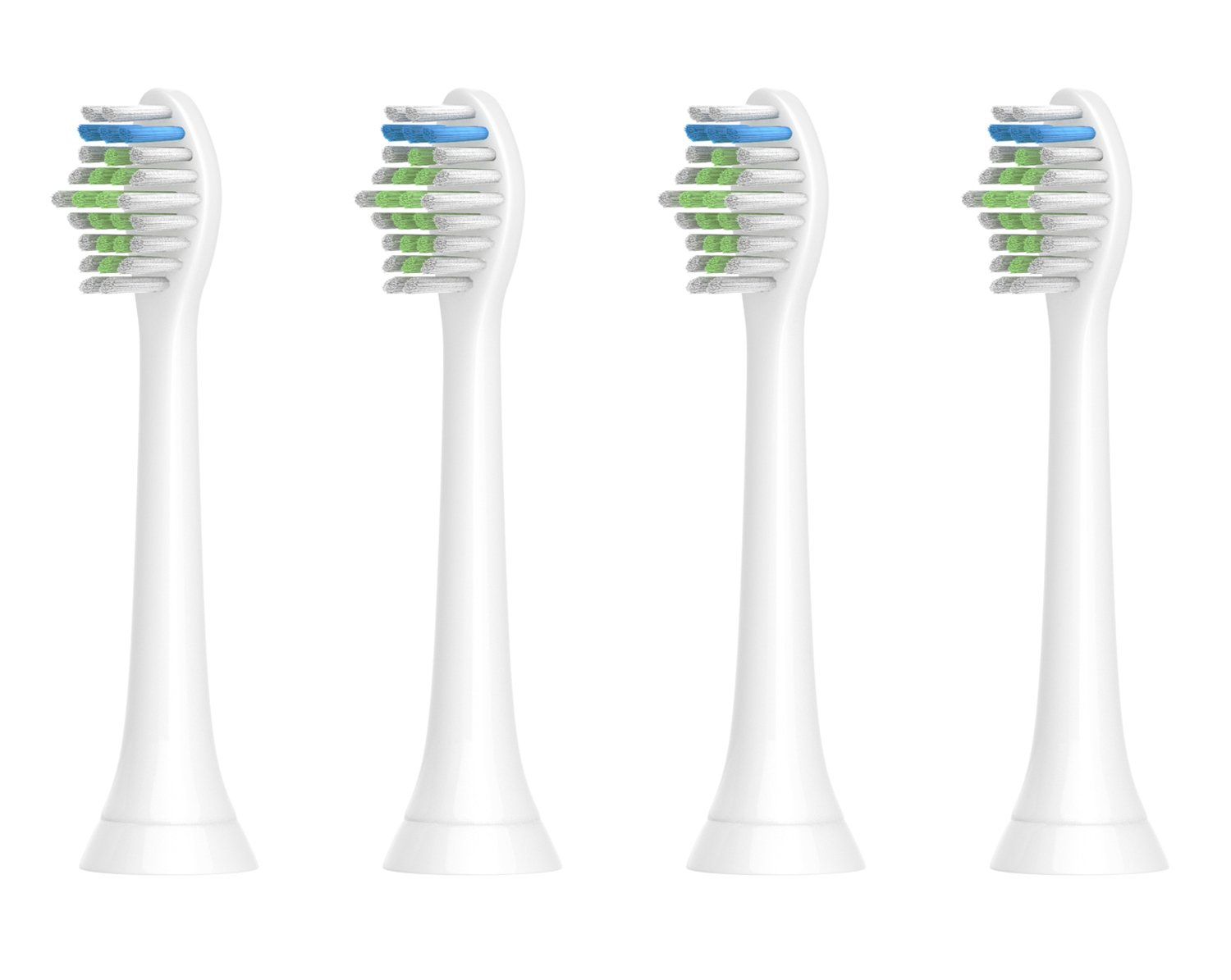 Sonicare Replacement Toothbrush Heads, 4 Pack, Fits Philips Sonicare Electric Toothbrush DiamondClean,Plaque Control,Gum Health,FlexCare,HealthyWhite,EasyClean,HydroClean,PowerUp,Sonicare for Kids