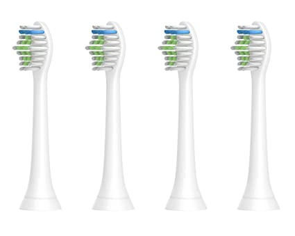Para Philips Sonicare Toothbrush Head,4 PCS,cabezales de repuesto para Sonicare HX6530 HX6014 Diamond Clean Compatible con Philips Healthywhite + ...