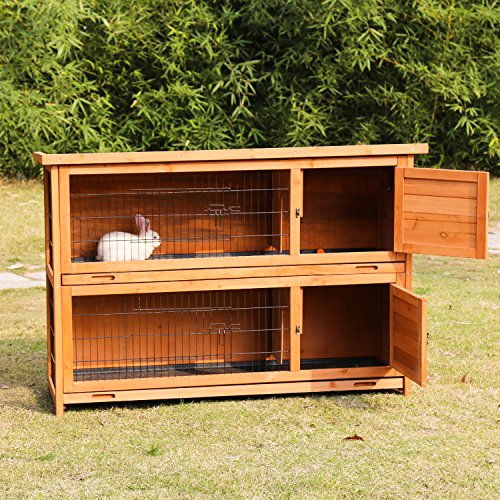 Kinbor 2-Story Rabbit Hutch Bunny Cage Indoor Outdoor for sale  Delivered anywhere in USA