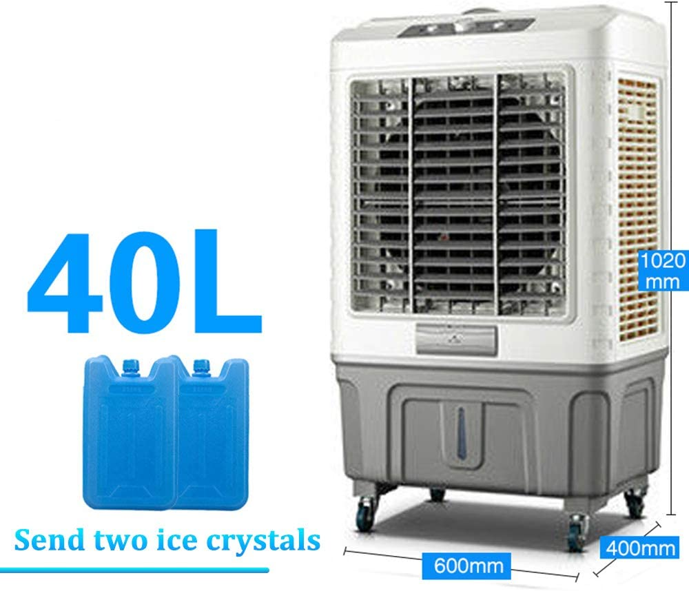 MGKMG Refrigerador de Aire portátil Evaporativo Ventilador móvil Industrial Comercial Refrigeración pequeña Acondicionamiento 40 Gran Tanque de Agua de litro,102cm