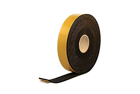 """Weather Stripping Sponge Neoprene Adhesive 1-1//2/""""Wide 1//2/""""Thick 15-Ft Long BLK"""