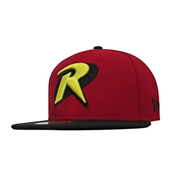 Robin Symbol Red 59fifty Cap At Amazon Mens Clothing Store