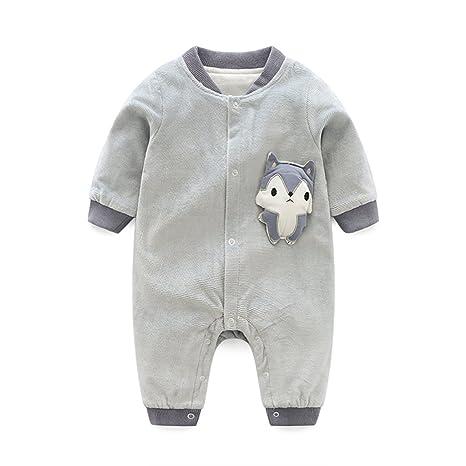 Bebé Mameluco Manga Larga Pelele Algodón Body Monos Recién Nacido ...
