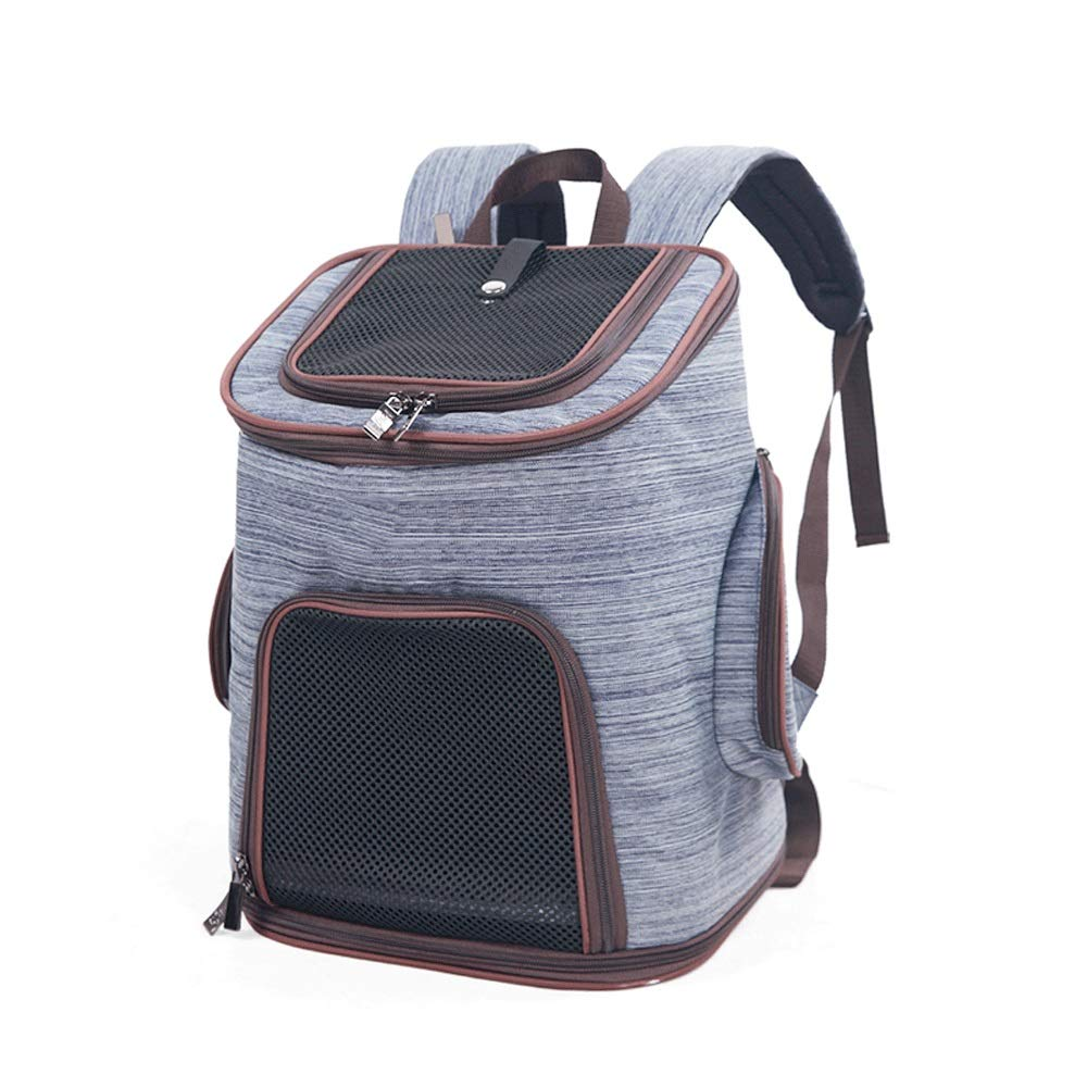 bluee Tao-Miy Deluxe Pet Carrier Backpack For Small Cats And Dogs, Puppies   Ventilated Design, Two-Sided Entry, Safety Features and Cushion Back Support   for Travel, Hiking, Outdoor Use (color   bluee)