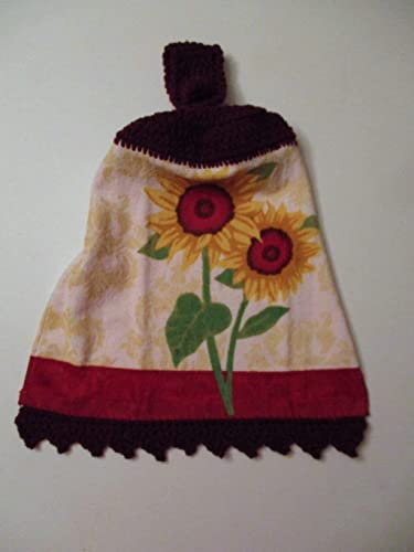 4b42bf621434b7 Image Unavailable. Image not available for. Color  Sunflower Crochet Top  Hanging Towel