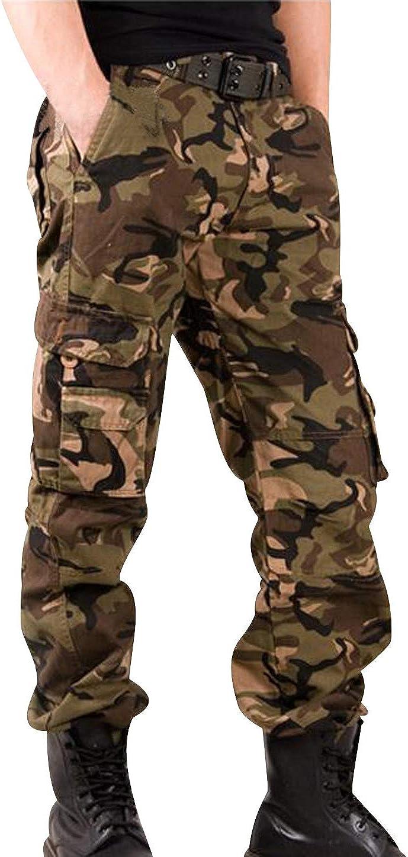 Pantalones Cargo Hombre Pantalon Camuflaje Militar Multibolsillos Pantalones De Trabajo con Bolsillos Laterales Caballeros Largos Anchos Slim Fit Baggy Stretch Outdoor Casual Clasicos Modernos: Amazon.es: Ropa y accesorios