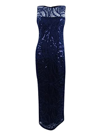 df4a942cc955 Amazon.com: Tahari ASL Womens Sequin Embroidered Gown: Clothing