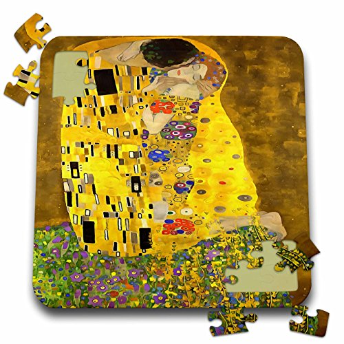 Taiche - Acrylic Painting - Love - The Lovers Kiss After Klimt - 10x10 Inch Puzzle (pzl_245554_2)