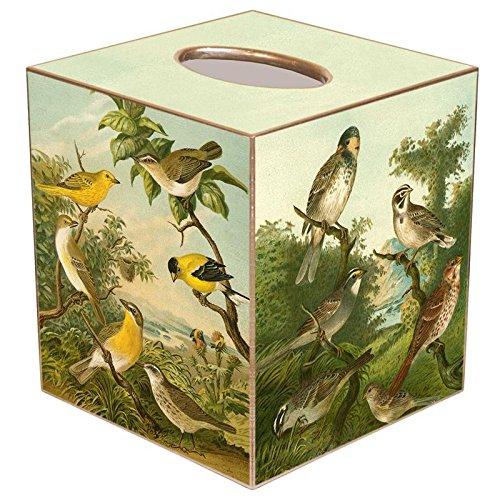- Yellow Birds Paper Mache Tissue Box Cover