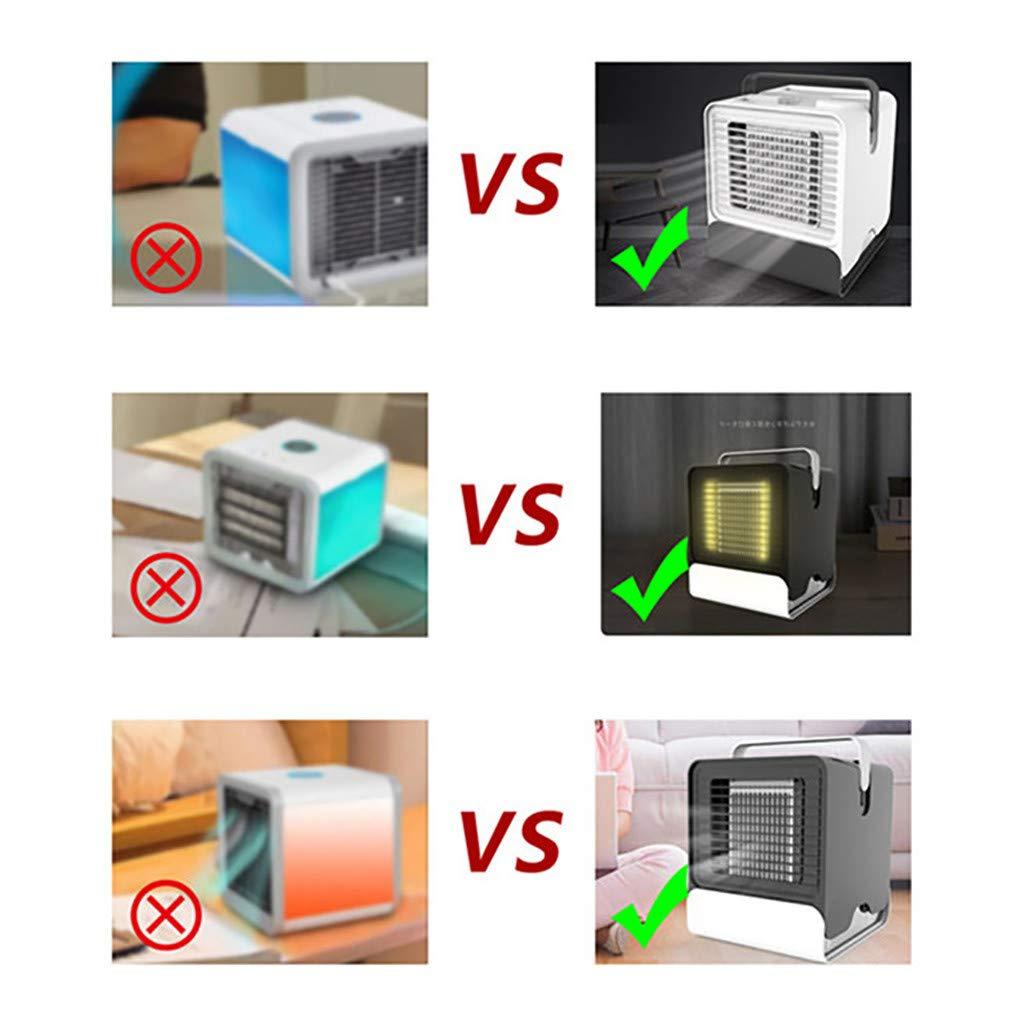 99Lamour Ventilateurs Silencieux,Ventilateur de climatisation /à ions n/égatifs 2000 mAh /ét/é cr/éatif vent trois vitesses r/églable,Ventilateur De Climatisation /à Ions N/égatifs Ventilateur-Rose
