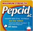 Pepcid AC Maximum Strength Tablets, 50 Count