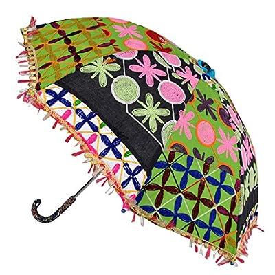 4a4a70edc5ea 50%OFF Embroidery Work Design Cotton Umbrella For Wedding Party ...