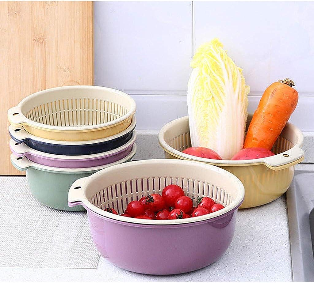 Waschen zum Reinigen 2-in-1 Multifunktions K/üchensieb//K/üche Sieb und Sch/üssel Set Mischen von Obst und Gem/üse doppelt Waschsch/üssel Sieb und R/ührsch/üssel Ablaufbecken und Korb