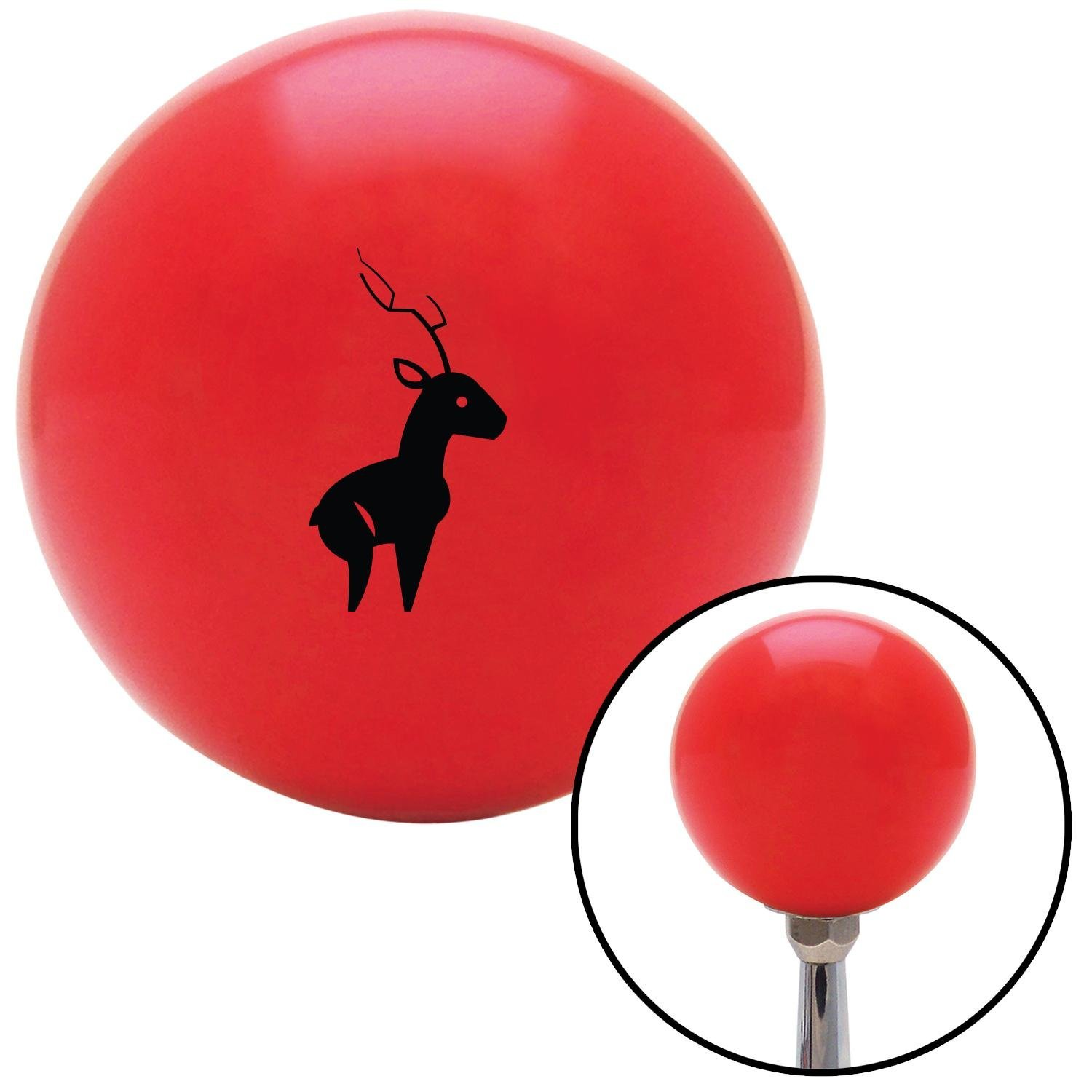 American Shifter 93609 Red Shift Knob with M16 x 1.5 Insert Black Deer