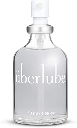 Überlube Luxury Lubricant   Latex-Safe Natural Silicone Lube with Vitamin E   Unscented, Flavorless, Zero Residue, Works Underwater - 50ml