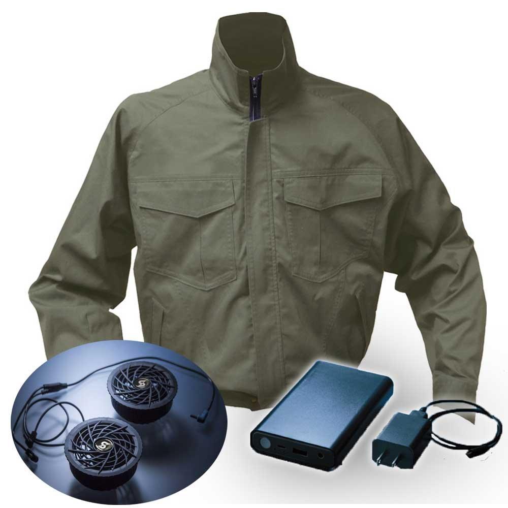 空調服 シンメン S-AIR ブルゾンファンバッテリーセット 88300 B07D66CGF2 5L|32チャコール 32チャコール 5L