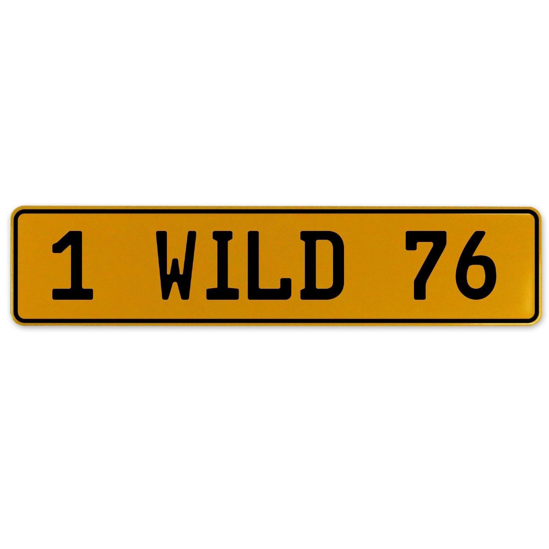 Vintage Parts 561010 1 Wild 76 Yellow Stamped Aluminum European Plate