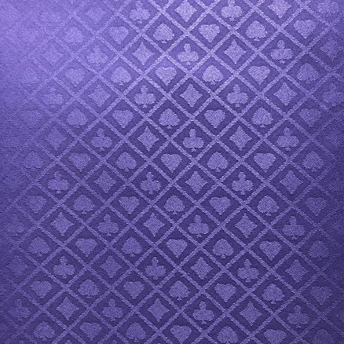 - YH Poker 108X60 Inch Section of Suited Poker Table Speed Cloth (Purple)