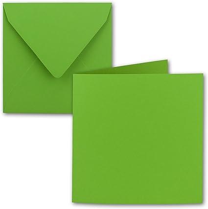 110/G//MQ////AUS der Serie colore froh von neuser. //240/G//M/² notelets piegato 15/x 15/cm 50/pezzi//set Buste Quadrato in verde chiaro////Dimensioni: 30/x 15/cm