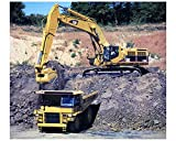 2002 Caterpillar 385BL Hydraulic Excavator Construction Photo Poster