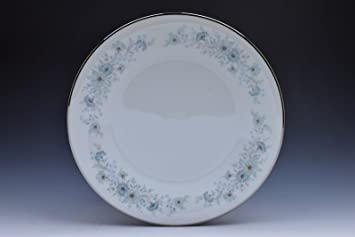 Noritake Inverness 6716 White Blue Flowers Silver Dinner Plate (s) & Amazon.com | Noritake Inverness 6716 White Blue Flowers Silver ...