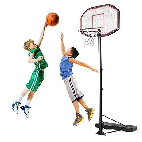 Canasta de baloncesto ajustable con soporte de Costway de 305 cm ...