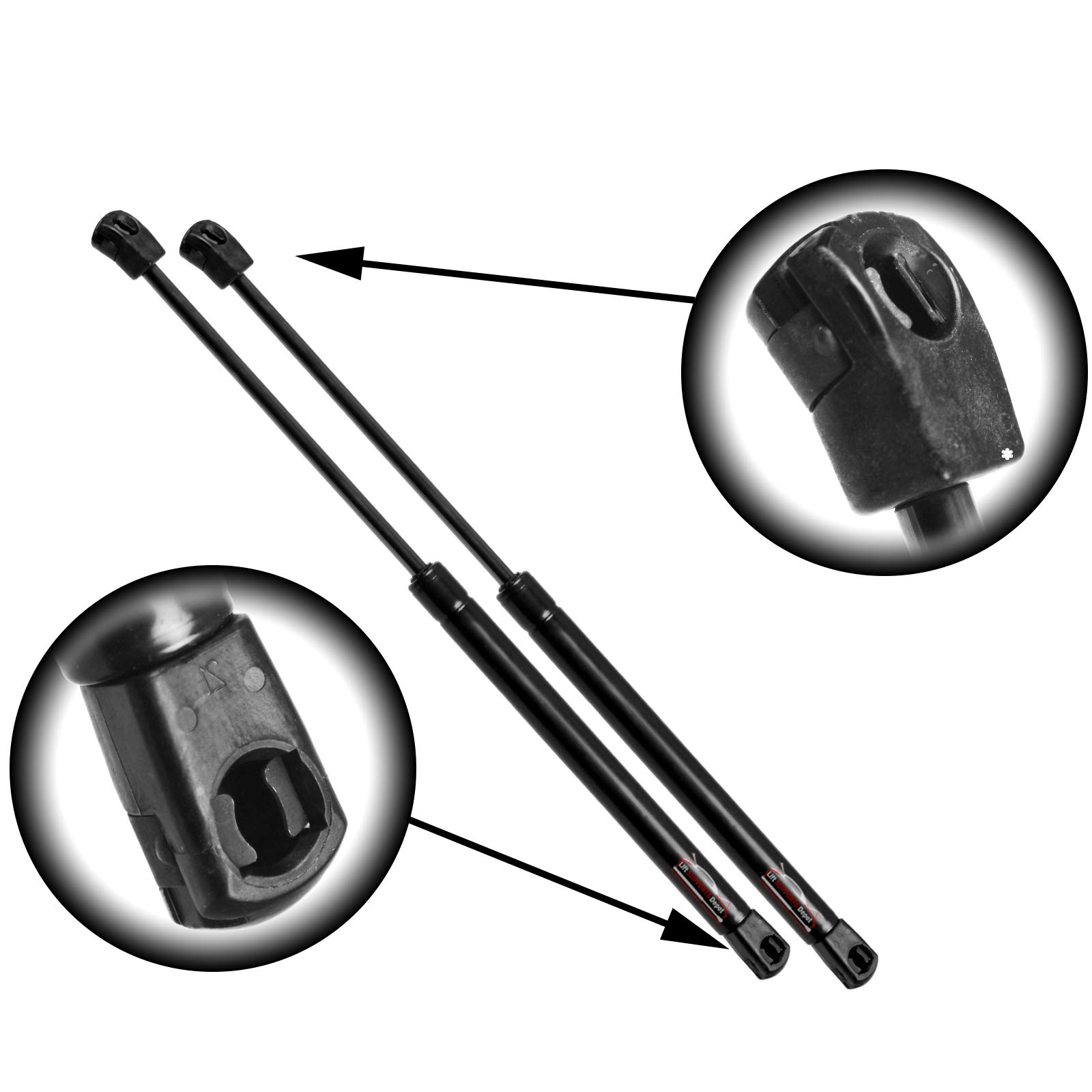 LSC-0366-B-2 Lift Support Central Left and Right Side Two Rear Hatch Gas Charged Lift Supports for 2012-2017 Hyundai Veloster