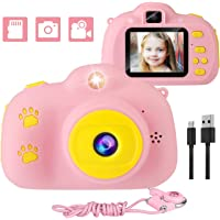 Kids Camera, 1080p Selfie Digital Kids Camera for Girls with 32GB SD Card Rechargeable Battery Children Video Camera…