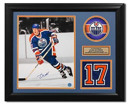 Jari Kurri Edmonton Oilers Autographed Autograph Retired Jersey ... 0cf8a4144