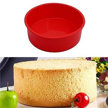 Jamicy Molde redondo de silicona para pasteles, magdalenas y pizzas: Amazon.es: Hogar