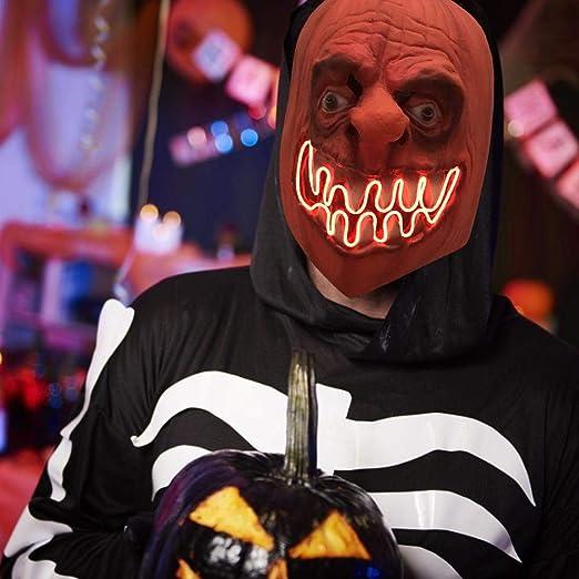 S WIDEN ELECTRIC Máscara de Halloween Scary, máscara de Fantasma ...