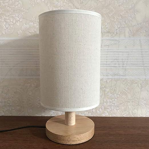 Lámpara de mesa creativa, personalidad, tela de lino, pantalla ...