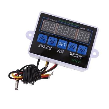 Baoblaze Controlador de Temperatura Controlado Termostato LED Operación Digital Accesorios - 12V LED