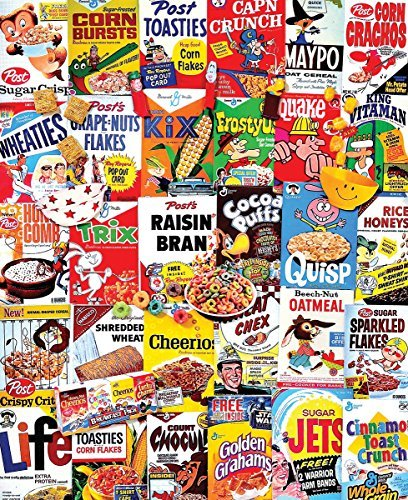 Jigsaw Puzzle 1000 Pieces 24X30-Cereal Boxes/ Sold as a pack of 1 by White Mountain Puzzles