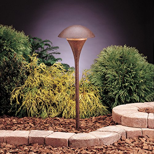 (Kichler 15236TZT Eclipse Path & Spread 1-Light 120V, Textured Tannery)