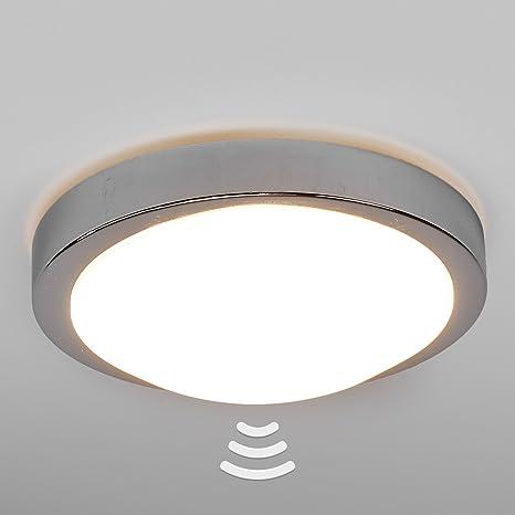 LED-lámpara de techo de ARAS cromado Sensor lámpara de techo LED redonda con sensor