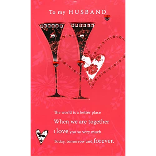 Valentine cards for husband amazon to my husband lovely valentines day card hand finished greeting cards m4hsunfo