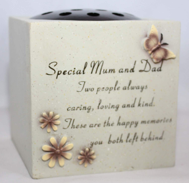 Special Mum And Dad Verse Graveside Memorial Grave Pot Amazon