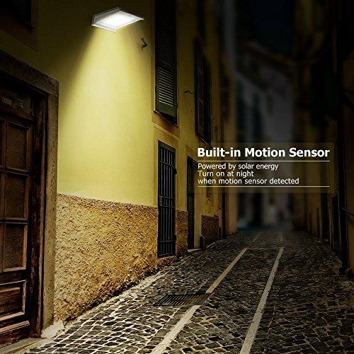 Outdoor Porch Security Lighting For Dark Winter Nights: Solar Lights,URPOWER 20 LED Outdoor Solar Motion Sensor