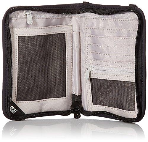 61D8SwryVDL - Pacsafe Rfidsafe V150 Anti-Theft RFID Blocking Compact Passport Wallet, Black