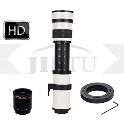 JINTU 420-800 mm Super Telephoto Zoom Manual Lens F/8.3 HD para ...